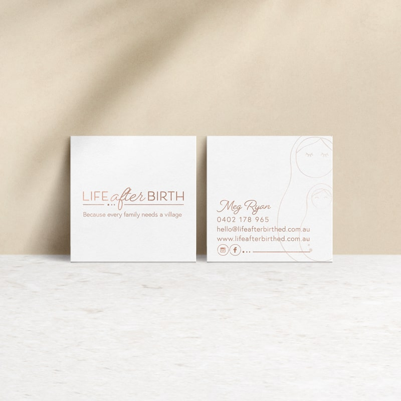 Lumina Design House Project : Life after Birth - Business Card Design
