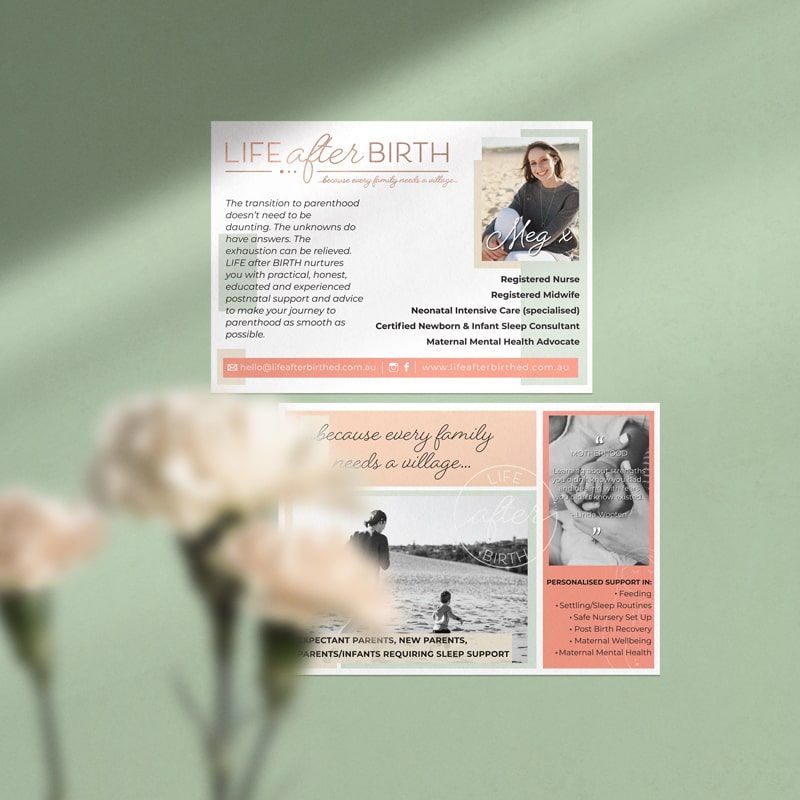 Lumina Design House Project : Life after Birth - Flyer Design