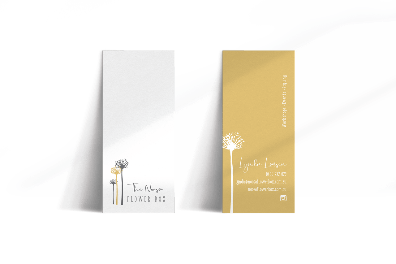 Lumina Design House Project : The Noosa Flower Box - Business Card Design