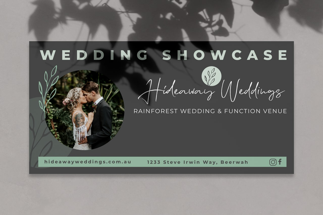 Lumina Design House Project : Hideaway Weddings - Banner Design