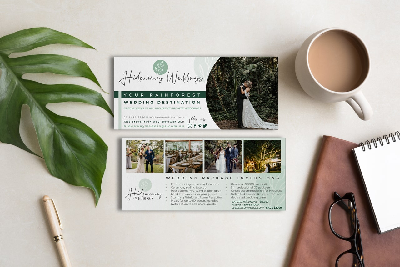 Lumina Design House Project : Hideaway Weddings - DL Flyer Design