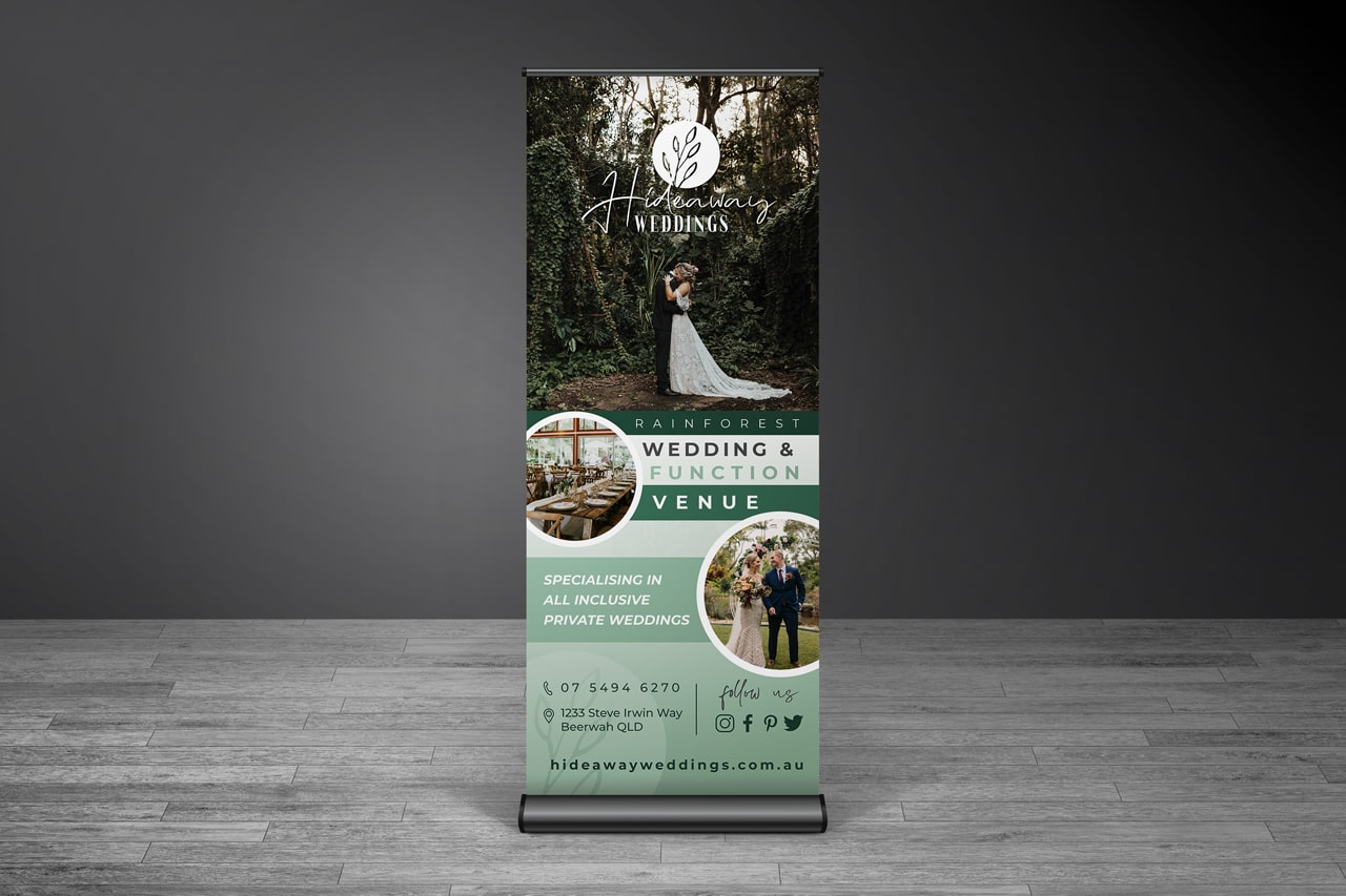 Lumina Design House Project : Hideaway Weddings - Pull-up Banner Design