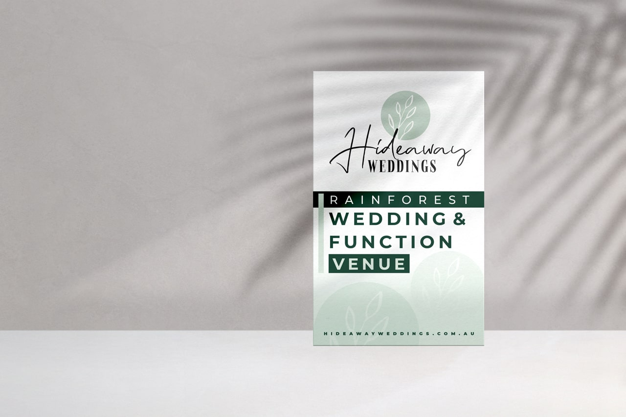 Lumina Design House Project : Hideaway Weddings - Road Signage Design
