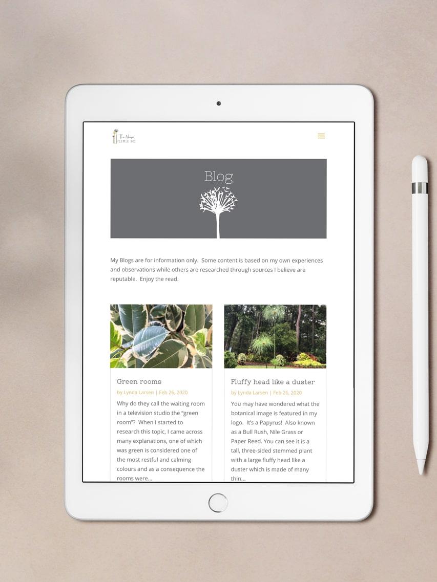 Lumina Design House Project : The Noosa Flower Box - Website Design