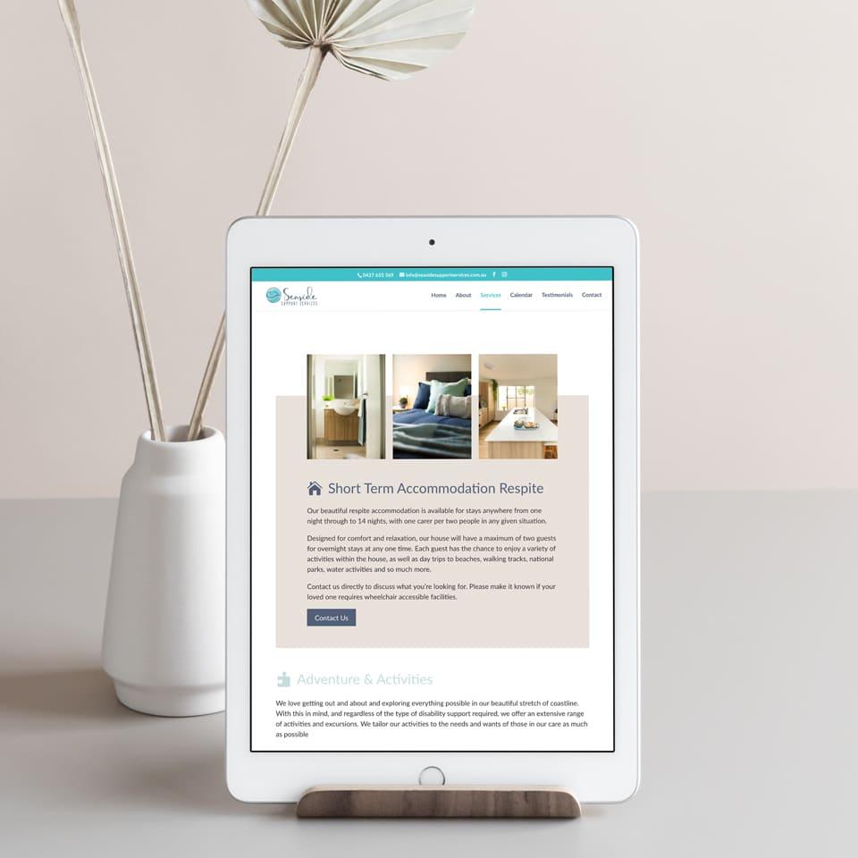 Lumina Design House Project : Seaside Support Services - Responsive Website Design