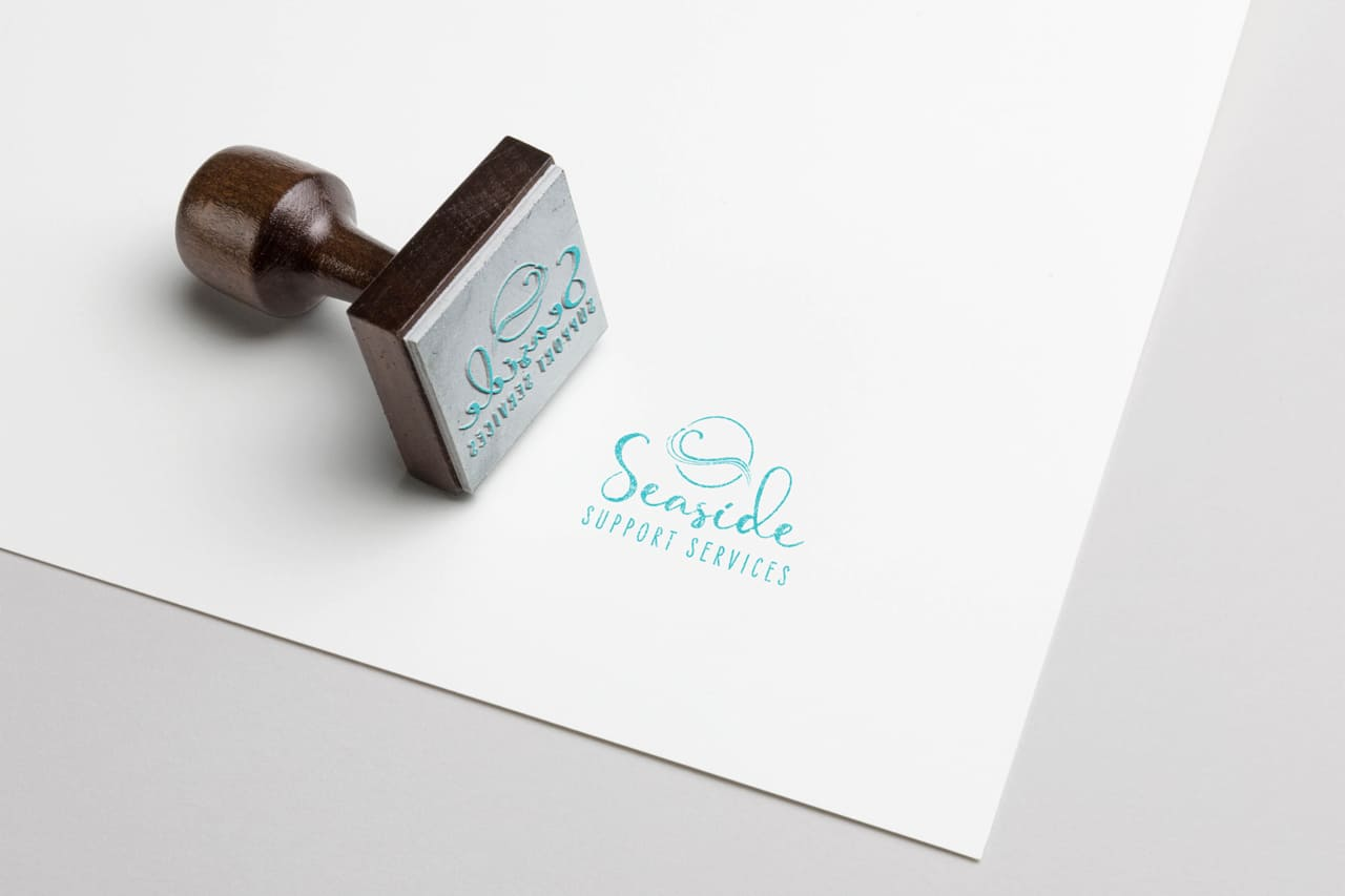 Lumina Design House Project : Seaside Support Services - Print, Custom Branded Rubber Stamp
