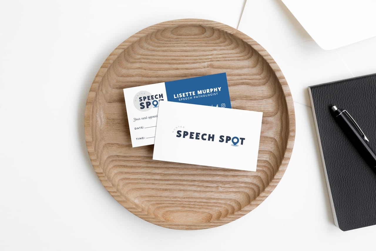 Lumina Design House Project : Hunter Speech Spot - Print, Business Card Design
