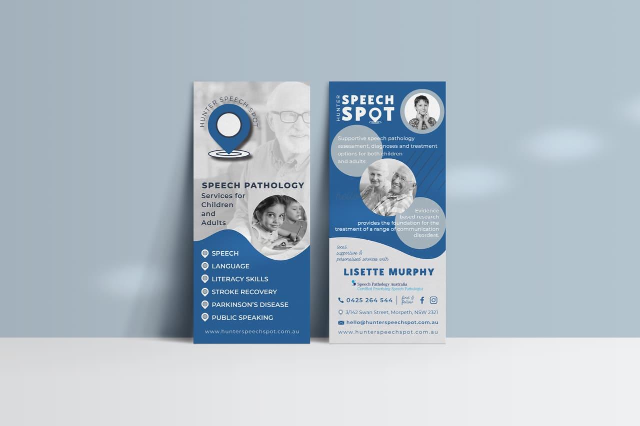 Lumina Design House Project : Hunter Speech Spot - Print, DL Flyer Design