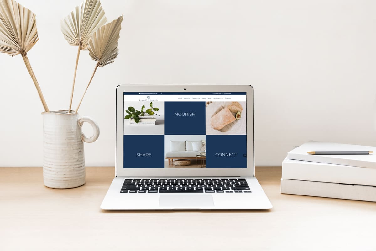 Lumina Design House Project : Collective Health Co - Bespoke Website Design