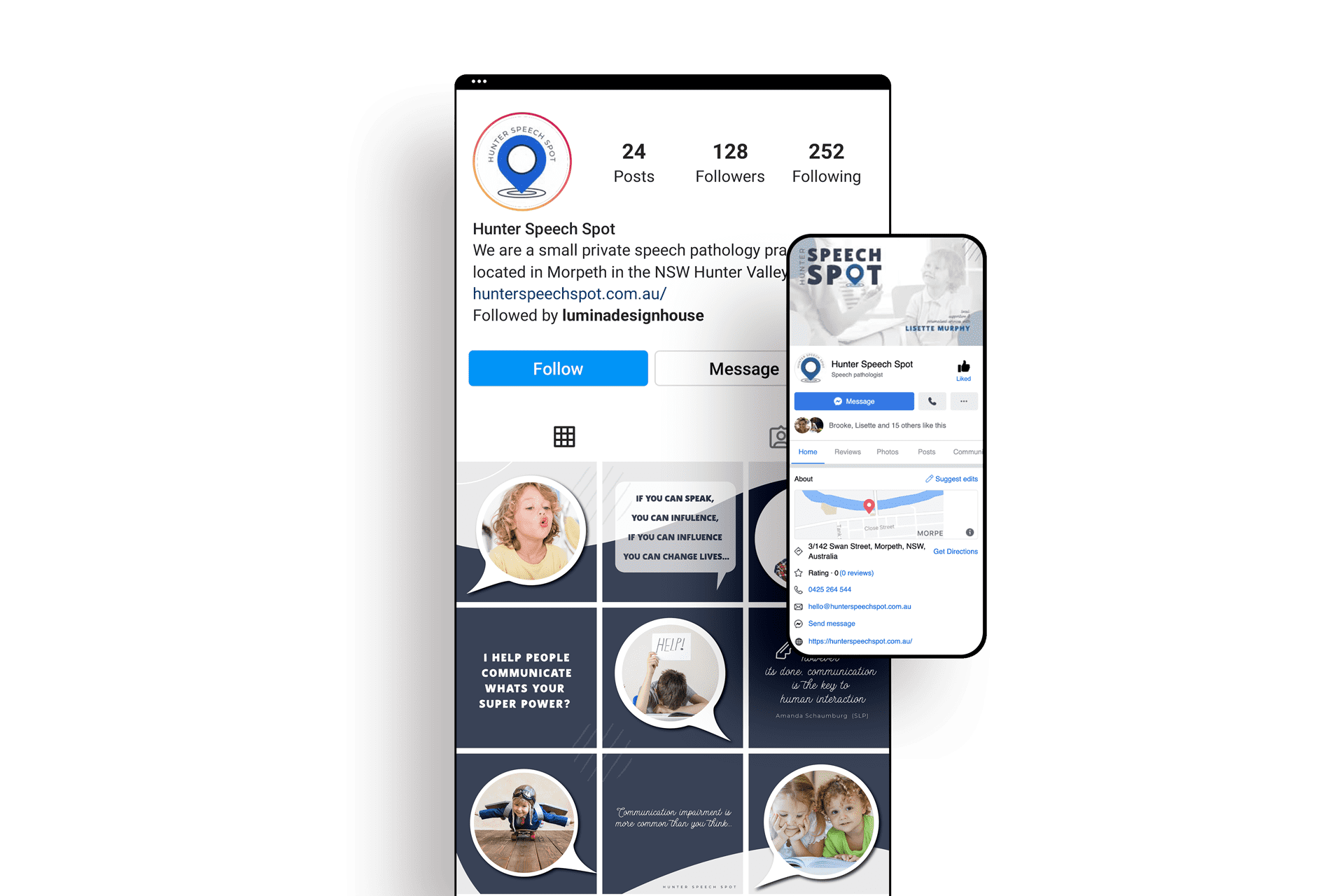 Lumina Design House Project : Hunter Speech Spot - Social Media Management