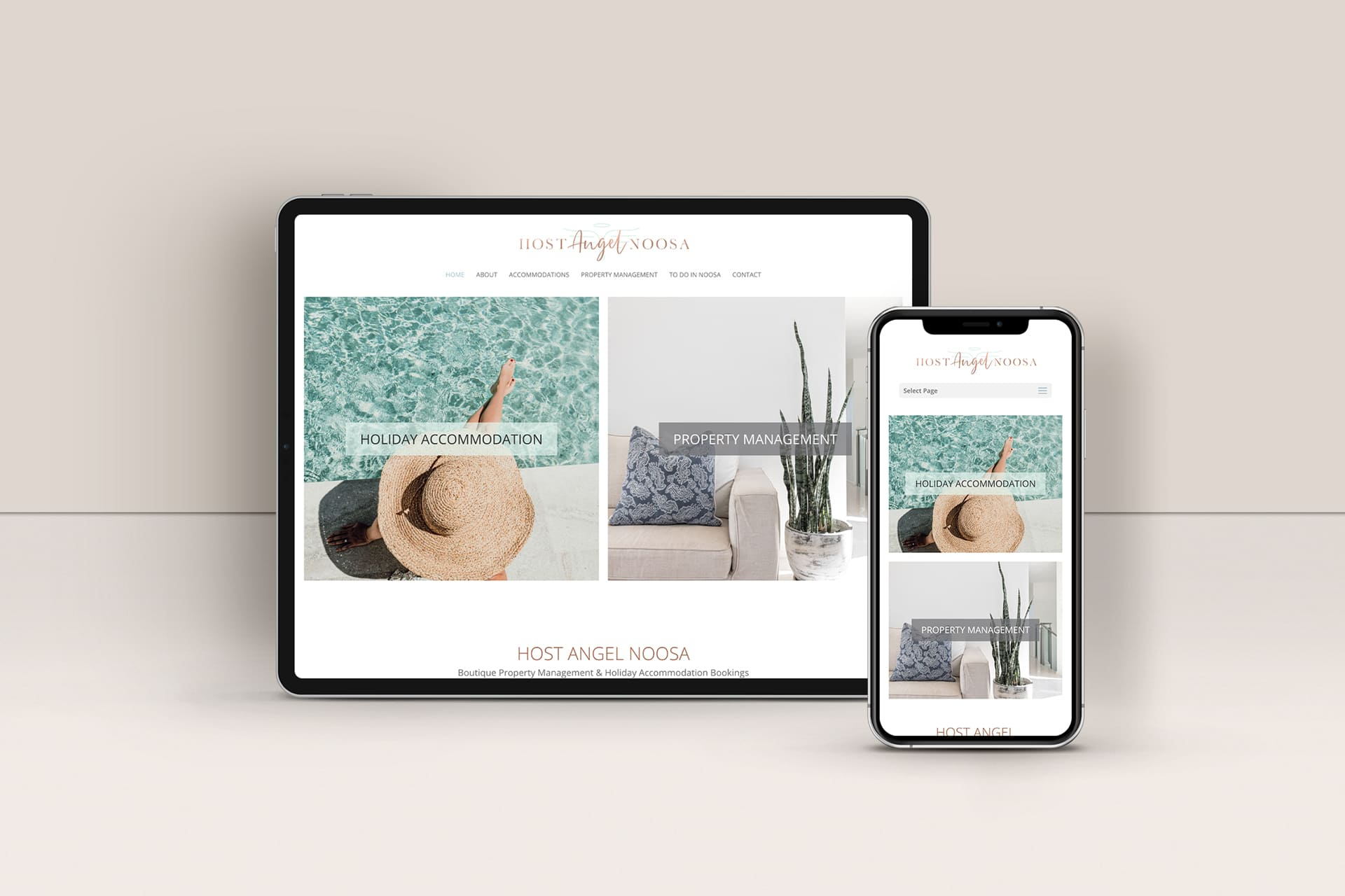 Lumina Design House Project : Host Angel Noosa - Boutique Property Website Design
