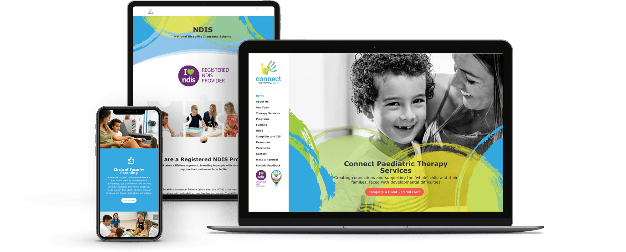 Lumina Design House Project : Connect PTS - Responsive Website Design