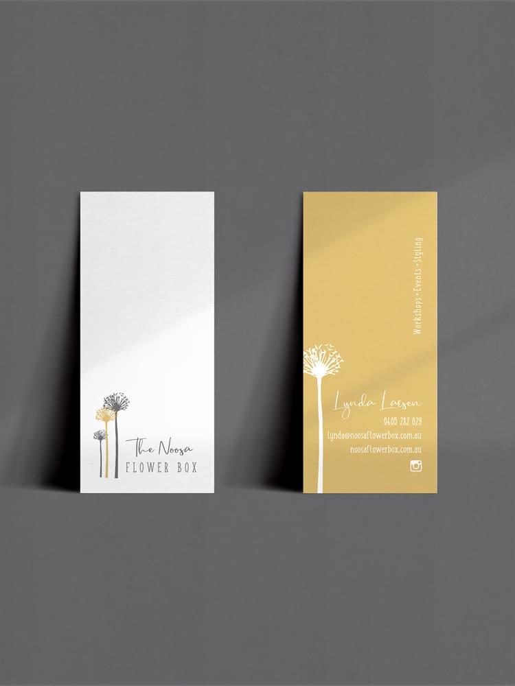 Lumina Project : The Noosa Flower Box- Business Card Design