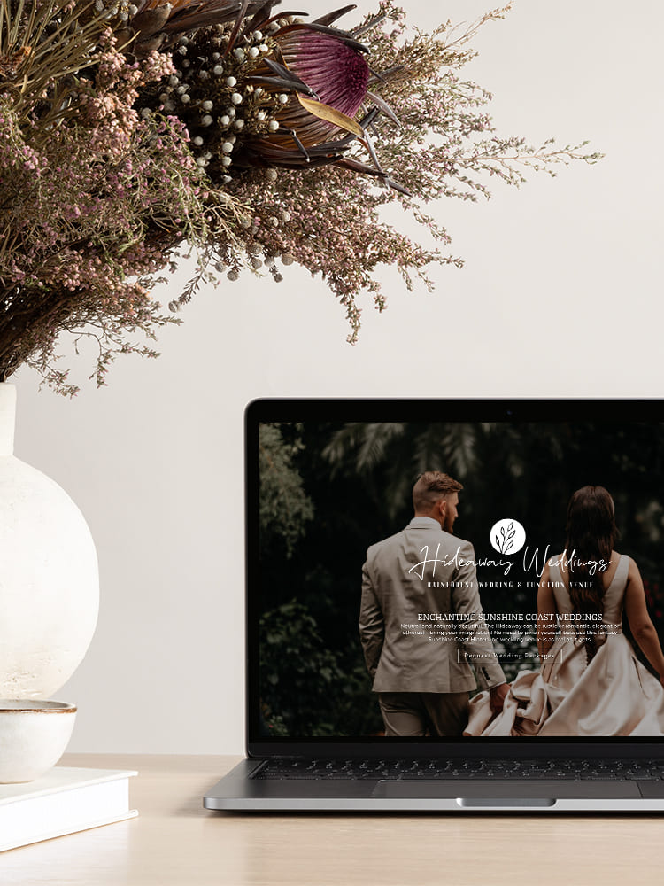 Lumina Project Hideaway Weddings Website Design