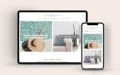 Brand & Website Design: Host Angel Noosa