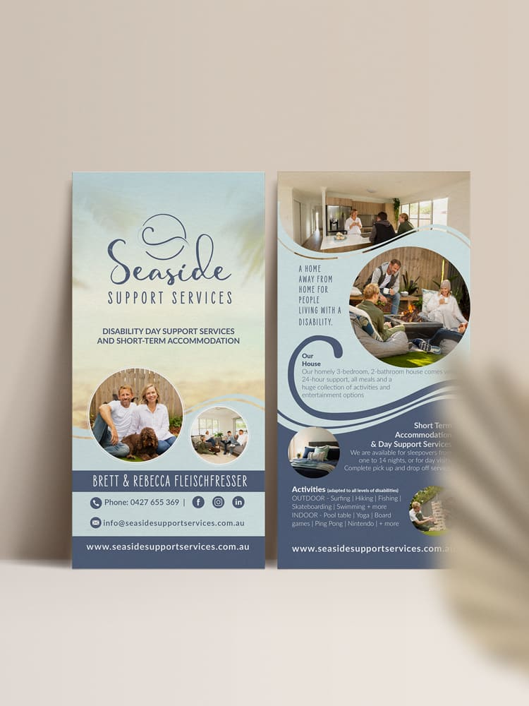 Lumina Project : Seaside Support Services - DL Flyer Design